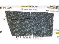 Обивка дверей УАЗ-469 к-т 4 двери омон (серый камуфляж) Полиэстер 600д, войлок