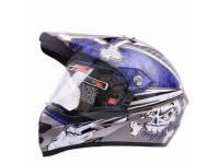 Шлем мотоциклетный кроссовый LS2 mx433 синий LS2 mx433 blue