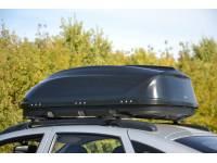Бокс-багажник на крышу Аэродинамический Черный Turino Compact