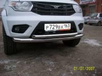 Передняя защита УАЗ Патриот двойная new (нерж.)